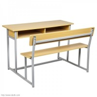 Wood Double Student Desk and-Chair SF-65A-2